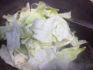 抗癌前五的蔬菜~糖醋手撕白菜,放入沥干水的白菜