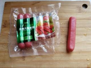 年夜菜~锦绣苔味香肠卷,准备台湾风味香肠备用