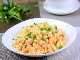 过年菜---鸡蛋滑虾仁