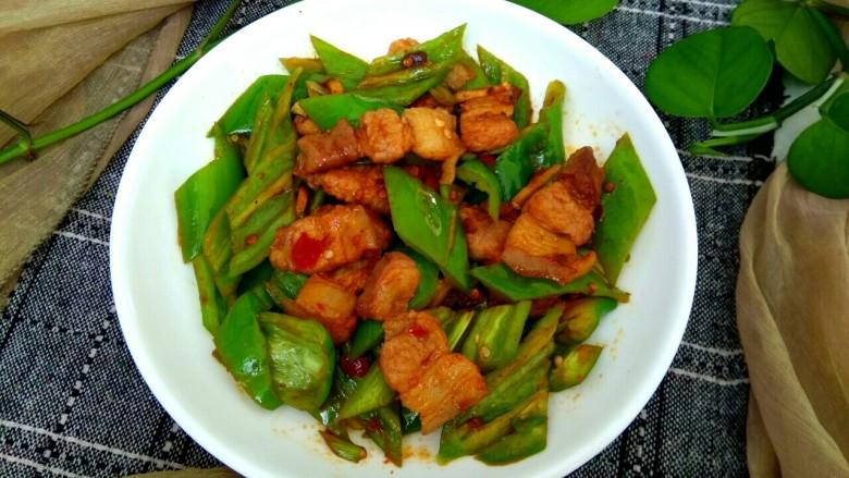 尖椒五花肉,成品,香辣下饭