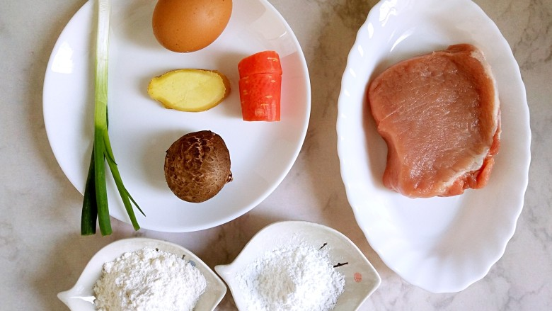 #宝宝辅食#自制午餐肉,备好食材
