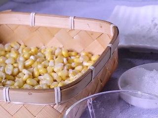 香甜玉米烙,准备食材甜玉米、淀粉、白砂糖