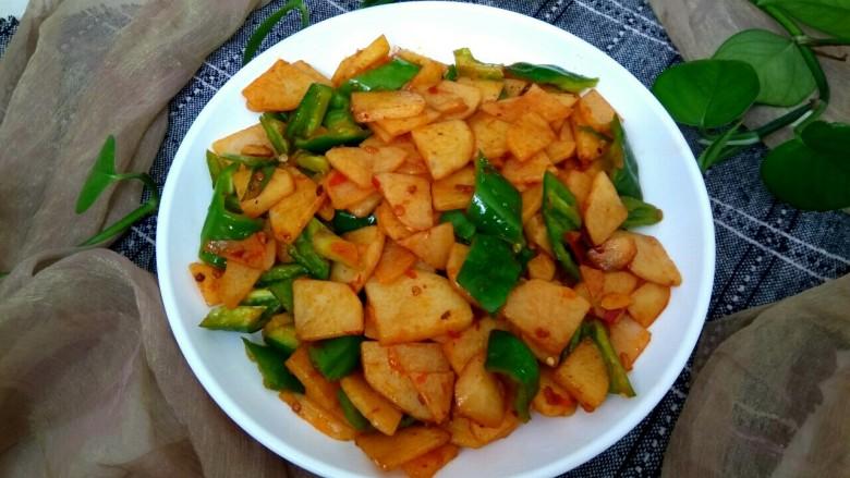 尖椒土豆片,成品,香辣下饭