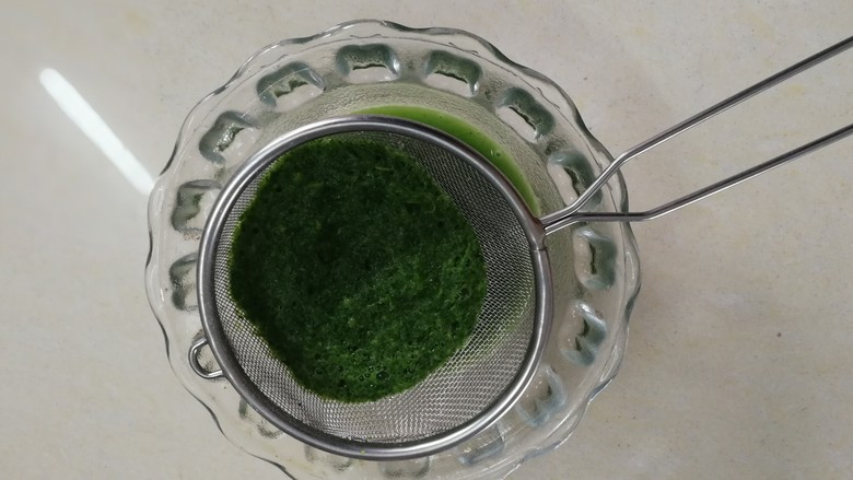 翡翠肠粉,过滤后取汁180g使用