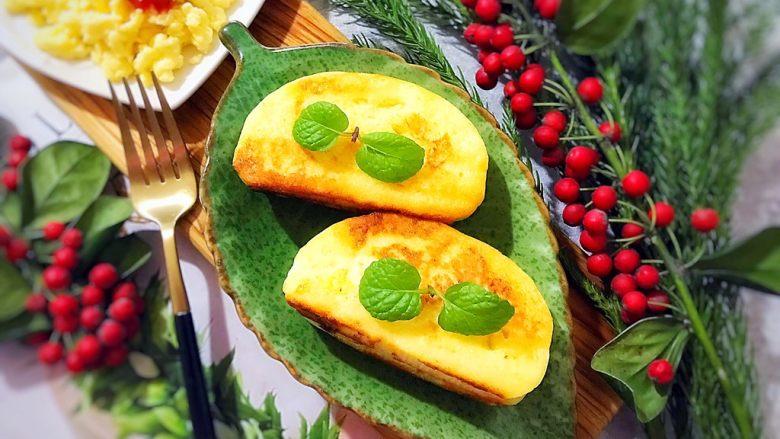 美好早餐开启美丽心情の黄金果酱馒头西多士+美式炒鸡蛋