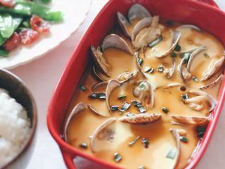 花蛤蒸蛋,美味的花蛤蒸蛋就完成啦~