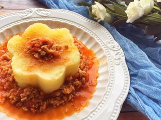 辅食12M➕番茄肉末土豆泥