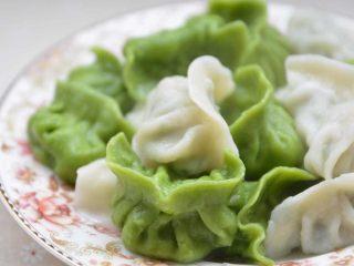 菠菜饺子,煮好,胃口大开啊