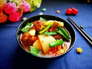 年菜  红红火火过大年&白萝卜猪血炖羊肉