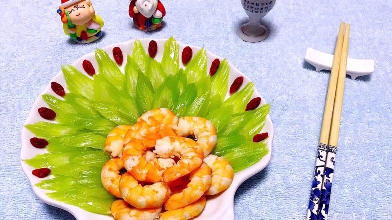 蒜蓉西芹炒虾仁