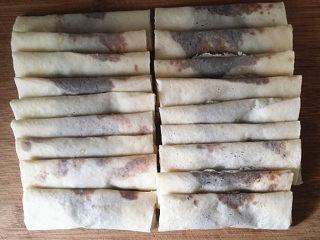 #做春卷# 红豆沙春卷,依次包好其它豆沙春卷