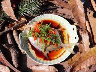 清蒸鲳鱼,成品