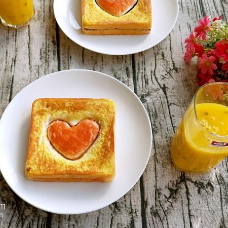 情人节爱心早餐