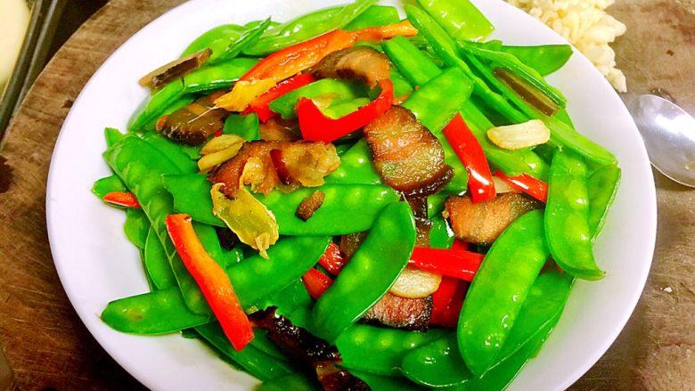 小清新&烟火气➕荷兰豆清炒酱油肉