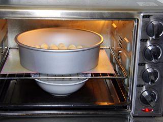 金钱小面包,再次放入烤箱发酵60分钟,同样底部放热水,30分钟更换热水。