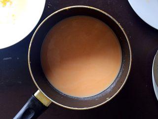 木瓜椰蓉奶冻,过完筛的面糊,细腻、均匀。