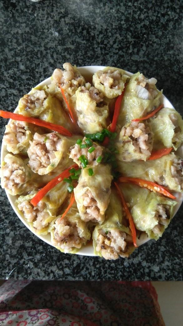 白菜叶卷肉