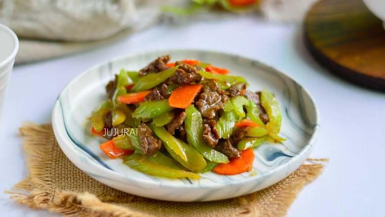 西芹炒牛肉,陈品