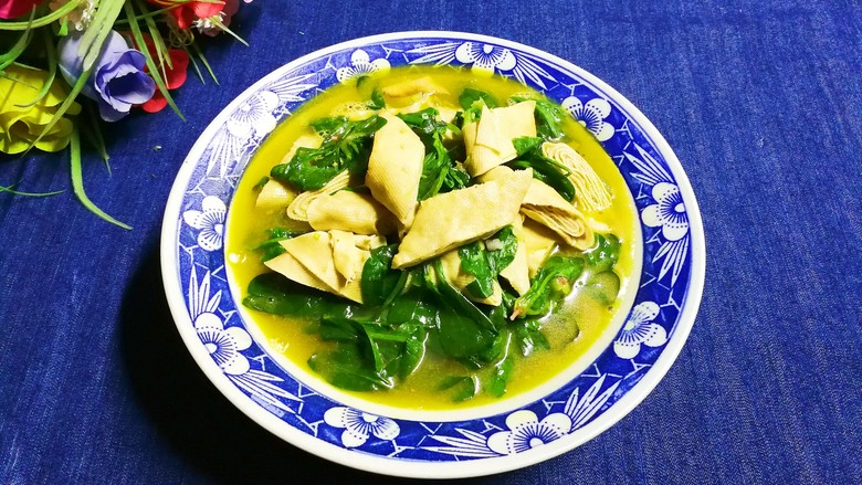 健康菜谱+自榨菜籽油烧小菠菜荤济