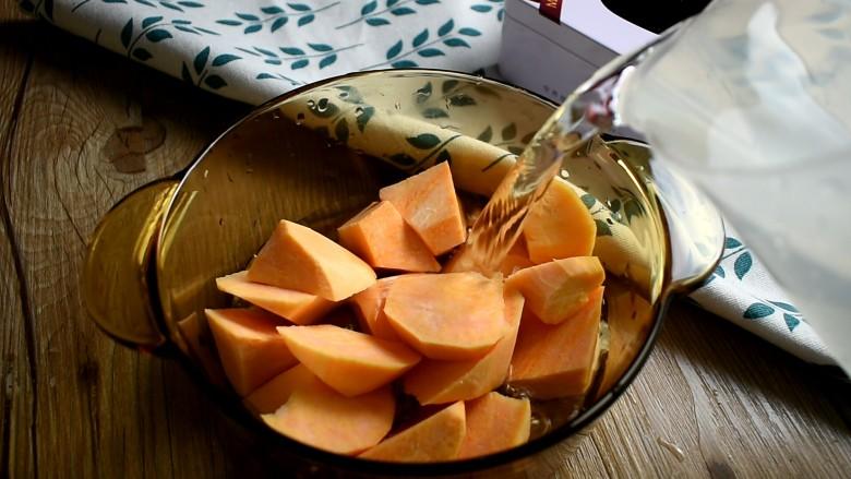 红薯甜汤,倒入足量的清水