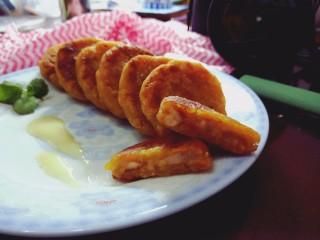 芋泥柿饼,装盘,开吃~