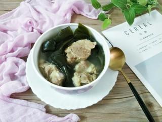 海带排骨汤,成品图