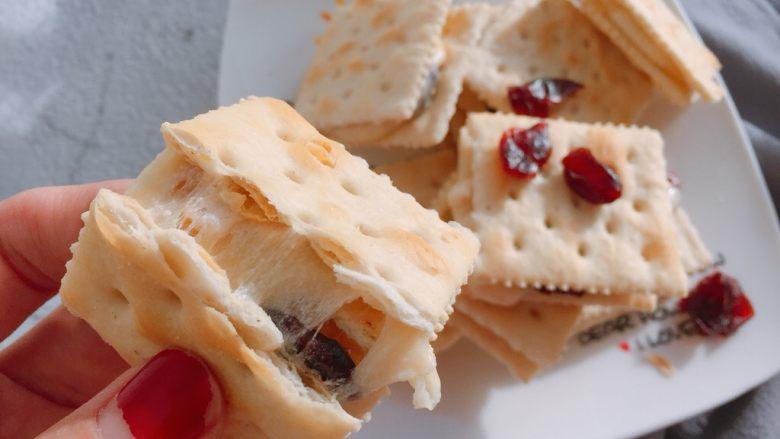 蔓越莓牛扎饼,这个方子的量可以做一包半太平苏打饼干