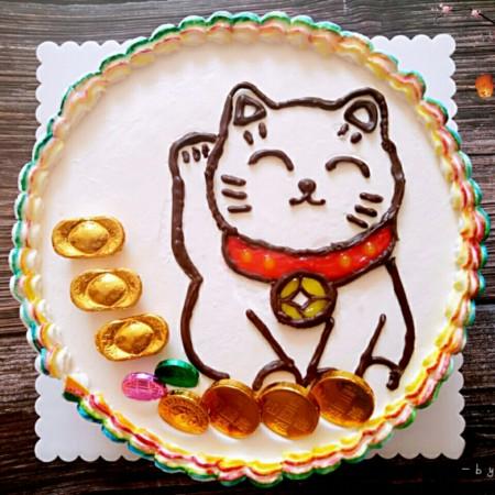 招财猫蛋糕