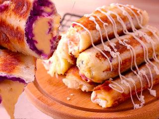 紫薯芝士吐司卷
