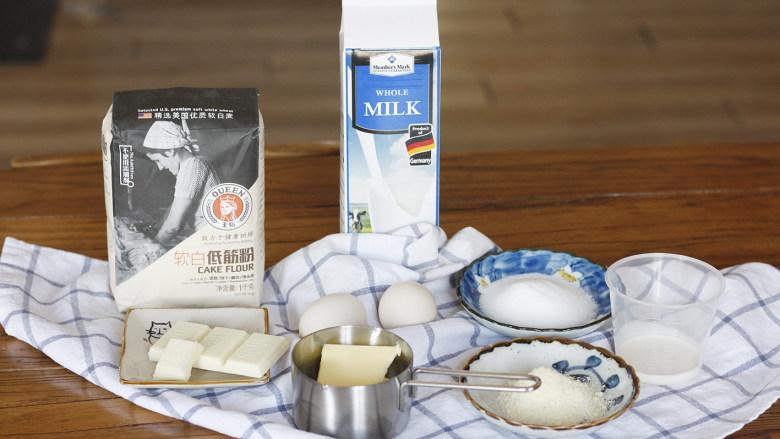 这是给你的,白色恋人,食材: 黄油40g            糖粉30g           蛋黄14g 蛋白10g             盐1g                低粉40g 杏仁粉10g          白巧45g           糯米粉5g 淡奶油18g