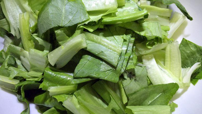 凉拌油麦菜,切段