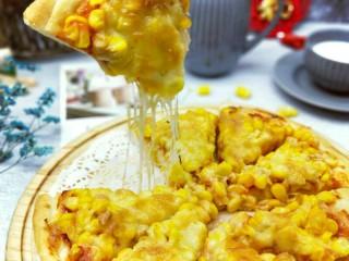 香甜玉米粒披萨,香甜美味又拉丝(^_^)