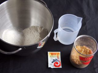 乡村面包+无油无糖版,材料清单