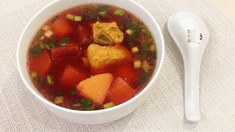 甜菜根排骨汤