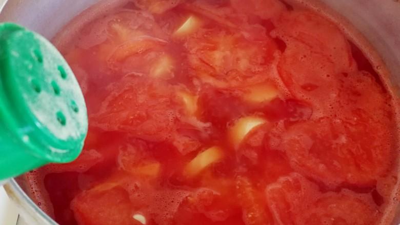 番茄豆腐巴沙鱼~让孩子爱上吃饭,加一点盐,白糖(可选),白胡椒粉