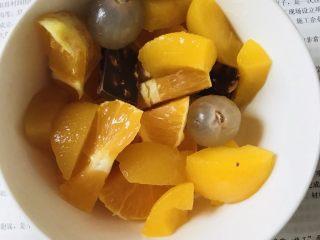 酸奶沙拉🥗,巧克力桂圆橙子🍊🍑酸奶