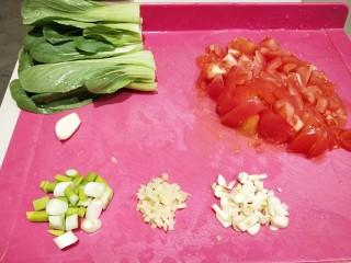 水晶豆腐番茄浓汤宝,都准确好了就可以制作了。