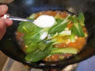 水晶豆腐番茄浓汤宝,适量味精。