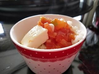 水晶豆腐番茄浓汤宝,番茄更是下饭菜。