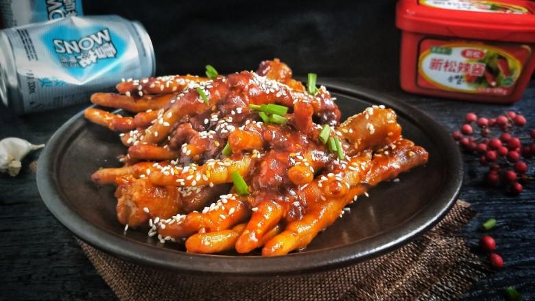 入口即化的韩式辣鸡爪,入口即化的韩式鸡爪好了!