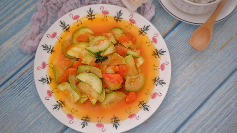 番茄炒西葫芦,成品图~