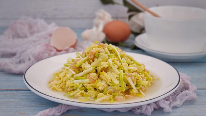 韭黄虾仁炒蛋