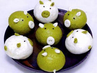 小猪馒头,超级可爱的小猪就可以吃啦。