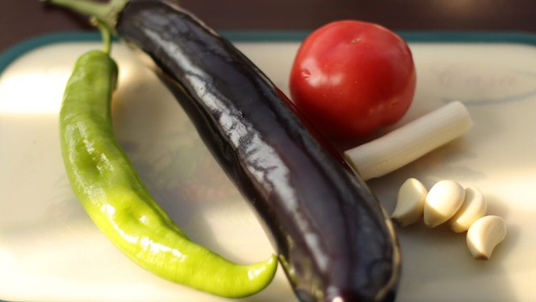 烧茄子,准备好食材