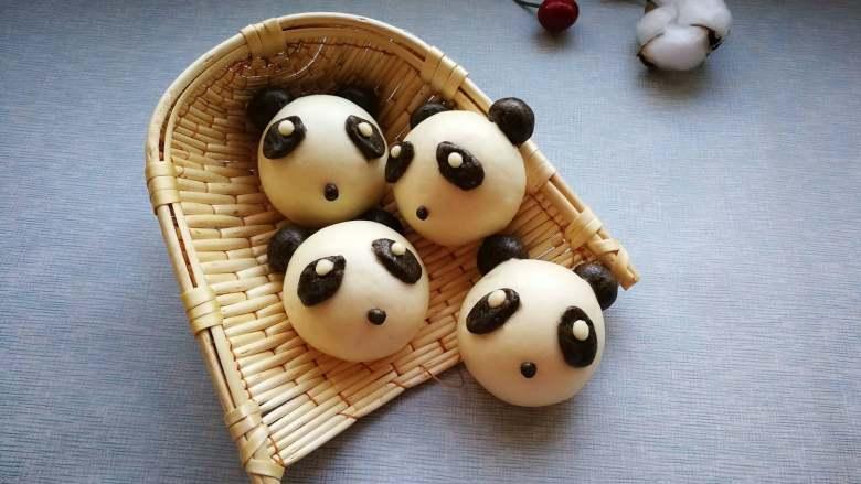 花样馒头-熊猫馒头