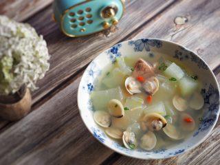 白贝冬瓜汤,成品。