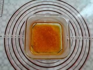 蜜豆钵仔糕,加入70克的温水