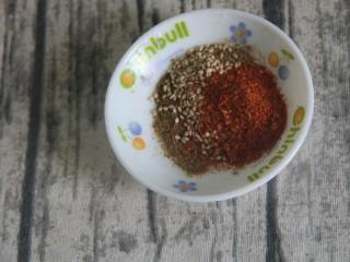孜然干豆腐炒牛肉,一勺辣椒粉