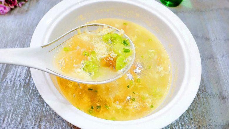 番茄&蚕豆米蛋花汤