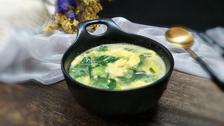菠菜鸡蛋汤,来上一小碗,美美哒!